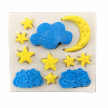 Stars Cloud Moon Shaped Silicone Cake Mold Kitchen Baking Mold Silicone Cake Decorating Tool Cake Mold Pastry Tool(China)