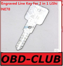 20pcs Original Engraved Line Key for 2 in 1 LiShi NE78 scale shearing teeth blank car key locksmith tools supplies