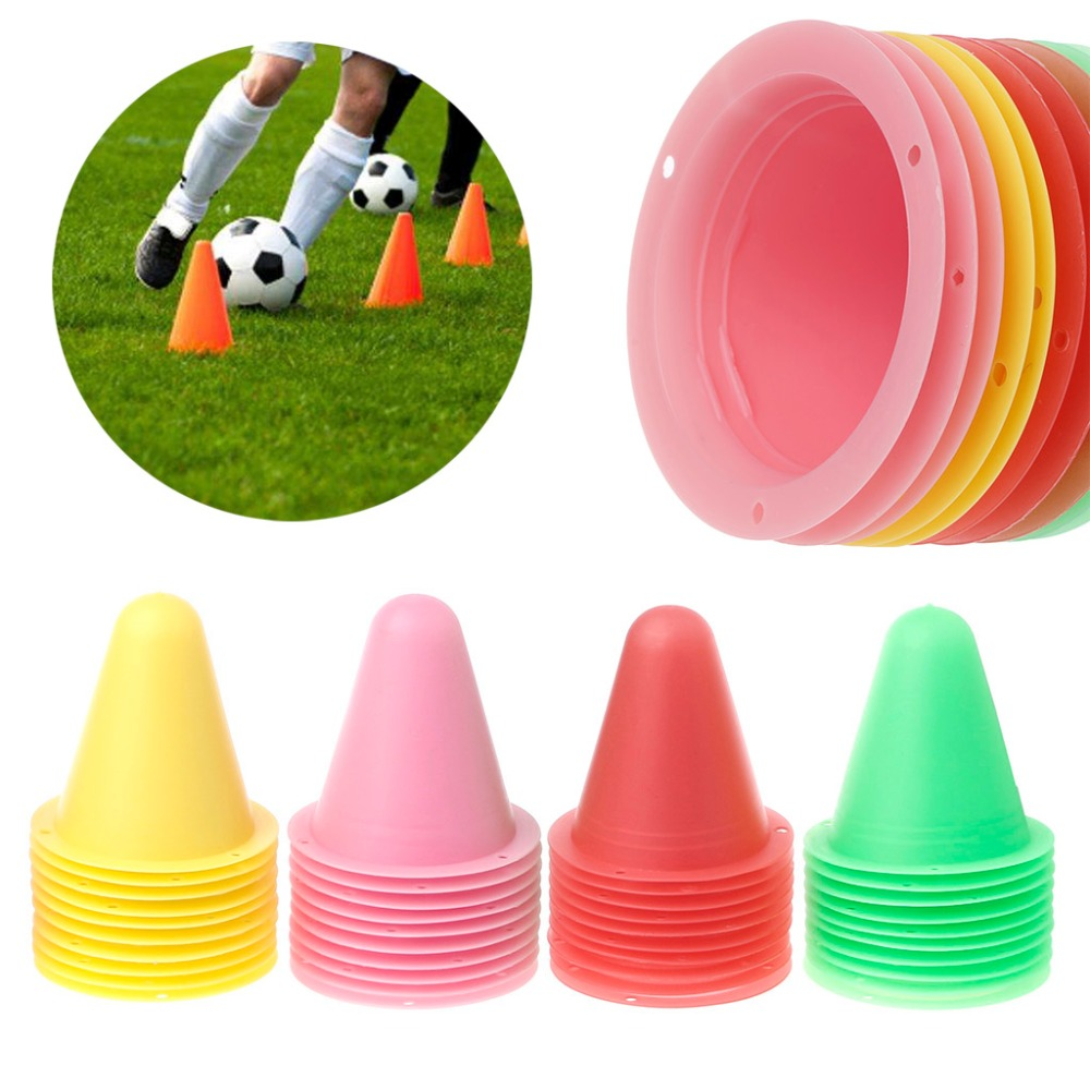10pcs inline skating Skateboard Mark Cup Soccer Rugby Speed training Equipment Space Marker Cones Slalom Roller skate pile cup(China)