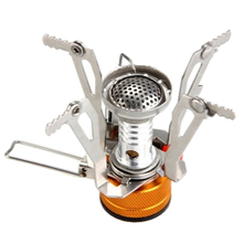 Ultralight Portable Outdoor Picnic Gas Foldable Camping Mini Steel Stove Tools Stainless Steel Cookware