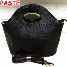 2017New products listed!100%Genuine Leather Women bags High quality Vintage Handbags Women messenger/Crossbody bag clutch bolsas(China)