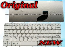 Original US Keyboard For Acer Aspire ONE 532 532H AO532 AO532H AOD532 ZH9 Netbook Laptop Keyboard White Free Shipping
