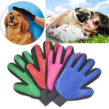 Pet Brush Glove Cat Grooming Massage Bath Clean Brush Magic Five Finger Glove Gentle Efficient Groomer Chien Dogs Honden Hond(China)