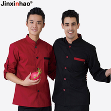 2016 Autumn Winter New Chef Jacket Women and Men Adjust Sleeve Work Wear Single Breasted Chef Uniform Free Shipping Chef Coat(China)