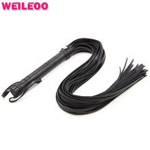 Buy long leather whip flogger spanking paddle fetish slave erotic toy adult game bdsm bondage restraint adult sex toy couple