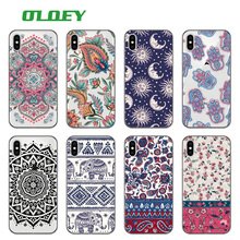 OLOEY Boho Indian Floral Lotus Elephant Paisley Tribal Soft Phone Case Coque Fundas For iPhone 7 7Plus 6 6S 6Plus 8 8PLUS X(China)