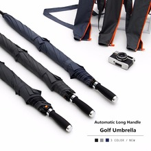 VGOLSUN 132CM Super Big Nylon Man Long Handle Golf Umbrella Couples &Three Persons Business Umbrella With Strong Windproof(China)