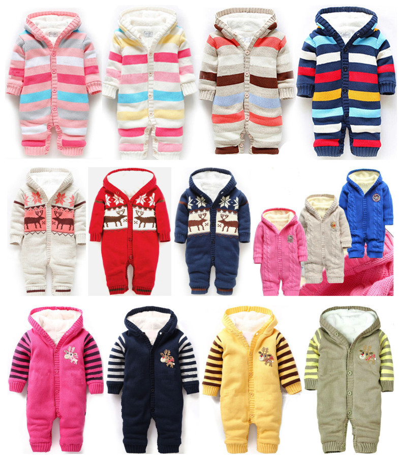 Bebek Giyim Baby Clothes Infantil Free Shipping Retail Fashion Winter Leotard Three Colors Of Autumn And Warm Clothing Jumpsuit<br>
