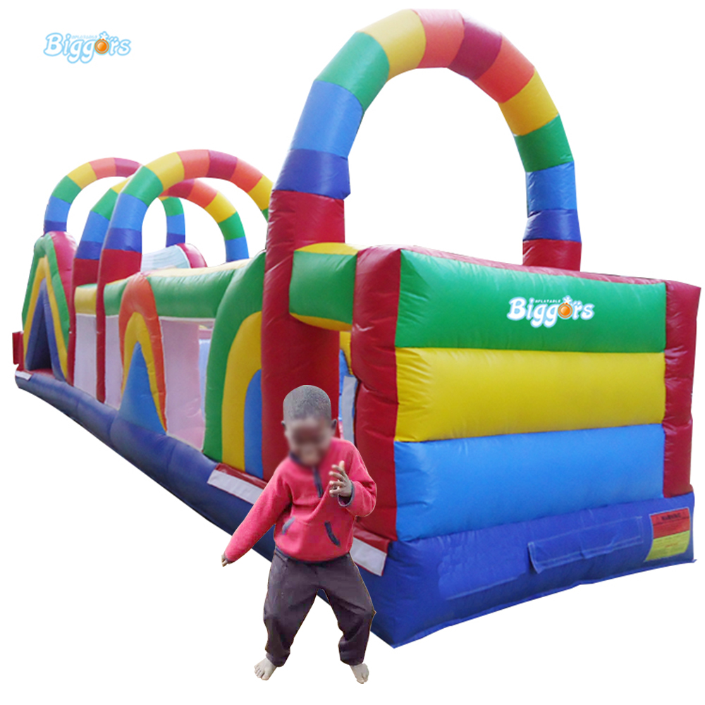 FREE SHIPPING BY SEA Hot Selling Inflatable Obstacle Course Adult Inflatable Jumping House With Air Blower(China (Mainland))