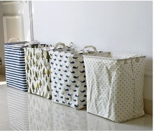 Cute Print Sundries Storage Boxes & Bins. Folding Clothes Storage Basket/ Laundry Basket /Dirty Clothes Bucket / Kids Toy Basket