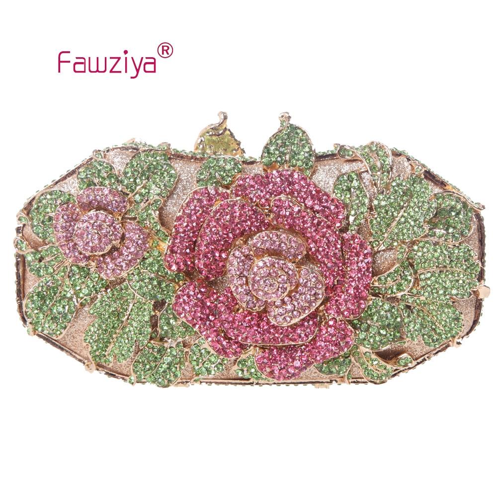 Fawziya Floral Bag Metal Rose Flower Leaf Magnet Clasp Quality Baguette Evening Clutch<br><br>Aliexpress
