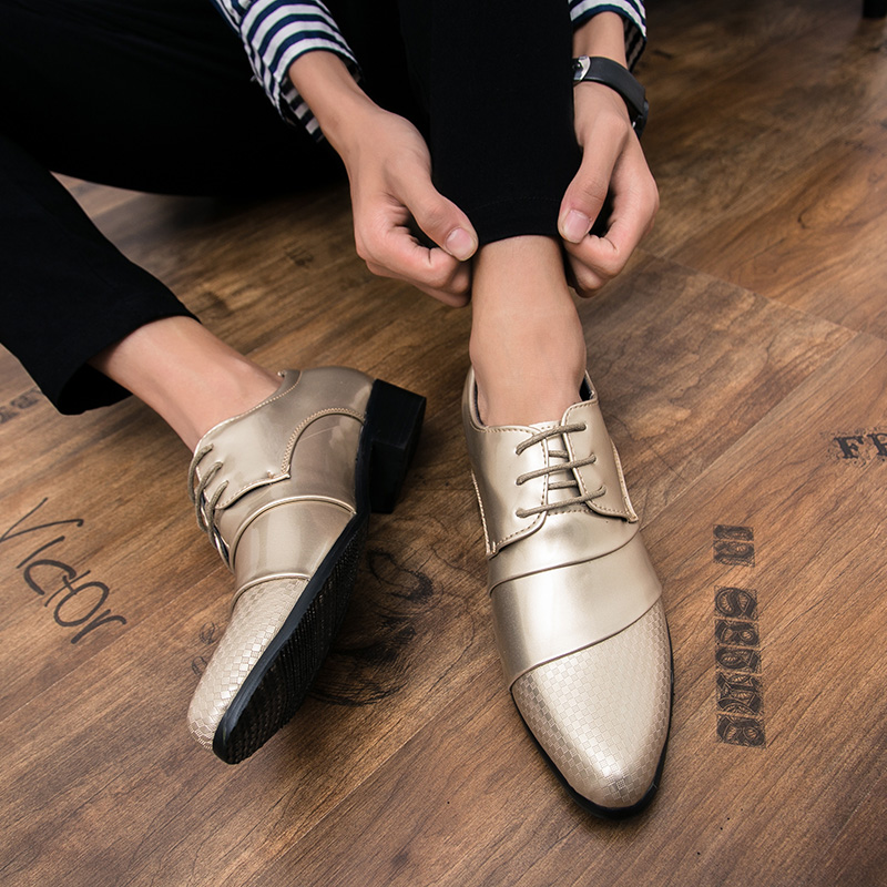 comfortable mens dress shoes luxury brand italian gold male footwear formal patent leather woven skin derby oxford shoes for men (19)