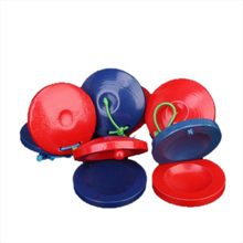 5 parts Round wooden Castanets Musical Instrument toy for children - red and blue(China)