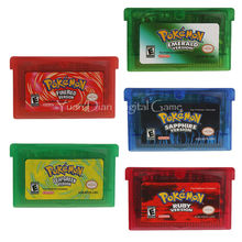 Nintendo GBA Video Game Cartridge Console Card Pokemon Series Emerald/Sapphire/Ruby/Leaf Green/Fire Red English Language Version(China)
