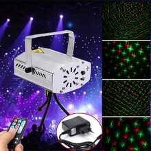 Mini LED Laser Pointer Disco Stage Light IR Remote RG Laser Projector Lights Party Lighting Projector Four Plugs for DJ Disco(China)