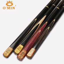 O'Min Victory 3/4 Jointed Snooker Cues Sticks With 3 4 Snooker Cue Case Set 9.8mm Tips China