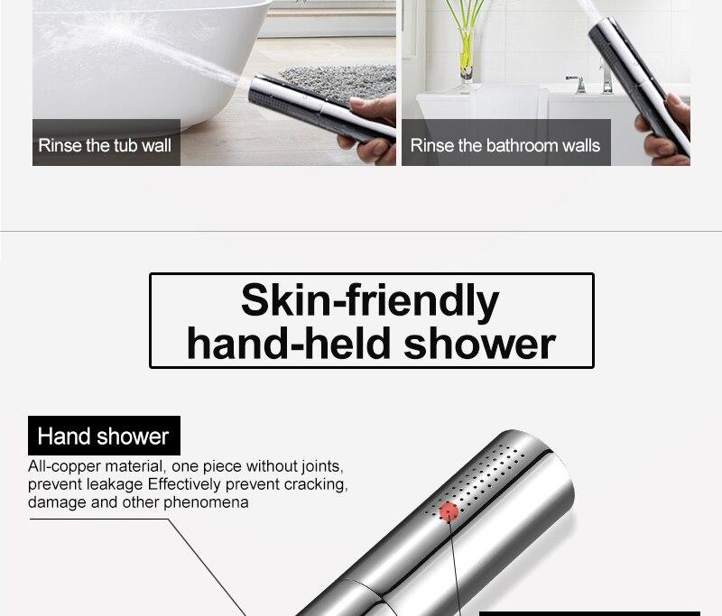 hm With Switch Hand Shower Head Brass Pressure Rain&Pulse Spray Gun Super Supercharged Bathroom Detachable Washable Shower Head (6)