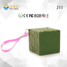 Mini Wireless Bluetooth Speaker Waterproof Silicone Lanyard Hands Free Speakers For Apple & Android Devices PC Computer 4 Colors