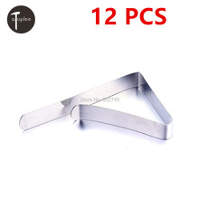 NEW 12 PCS Stainless Steel Tablecloth Clamp Tables Useful Clips Holder Tablecloth Clamps Party Picnic Wedding Prom Acc