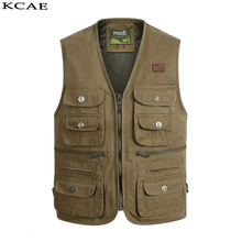 New Fashion Vests For Men Wholesale Men's Multi-pocket Photography Vest Men Casual Reporter Director Military Size XL-4XL