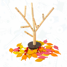 1Set Baby Wooden Building Block Table Game Model Tree Education Assembling Garden Play Games Toys for Children Birthday Gifts