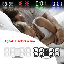 LED Digital Clock 24/12 Hour Display Wall Alarm Clock Watch Ornament Decoration(China)