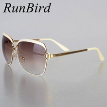 2017 Brand Designer Sunglasses Women D Frame Popular Fashion Shades Sun Glasses Infantil Oculos De Sol Feminino UV004 R547(China)