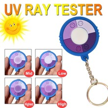 free shipping!10 pcs/lot hot selling test ultraviolet intensity solar monitor with keychain wholesales(China)