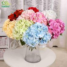 5pcs/lot Amazing Colorful Decorative flower for Wedding Party Luxury Artificial Hydrangea Fake Silk Hydrangea Bunch
