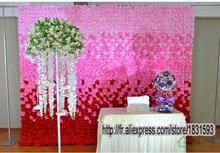 2016 NEW 2.4 m * 3 m  rayon roses wedding background lawn wall / pillar road lead flower decoration home market TONGFENG