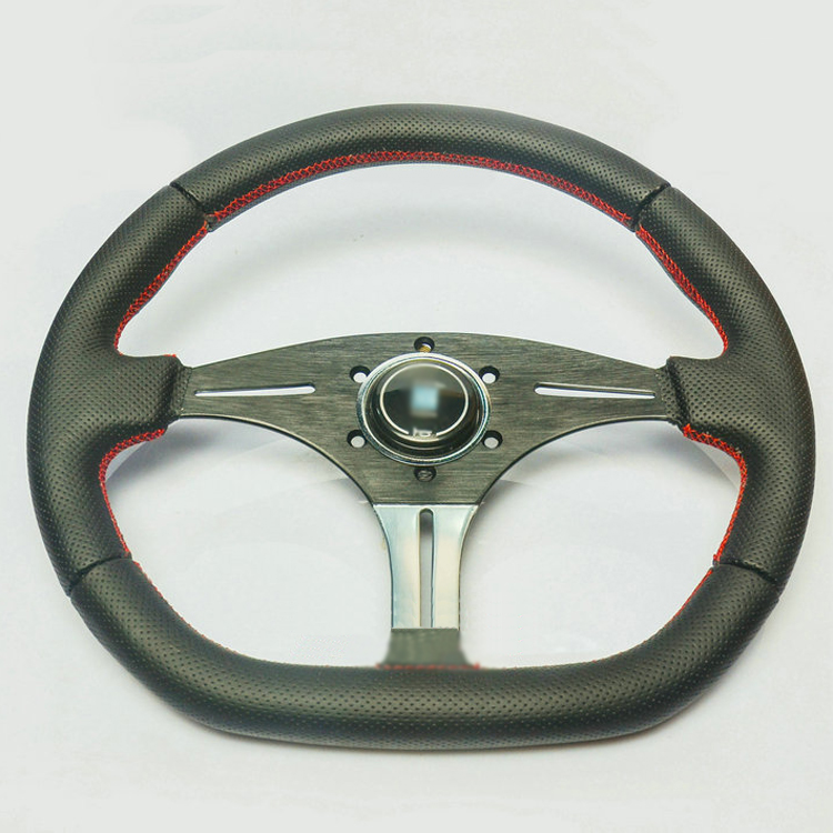 New Universal Fits Racing Sport 13135/350mm Suede Deep Dish Alloy Steering Wheel<br><br>Aliexpress