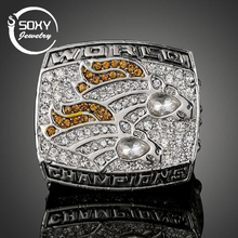 SOXY NFL Rugby Ring 1998 Super Bowl Denver Broncos Champions Ring High End Memorial Ring