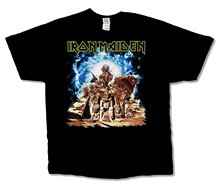 Male Battery Funny Cotton Tops Iron Maiden Ed Breaking Pyramid USA CDN Tour 2012 Mens Black T Shirt(China)
