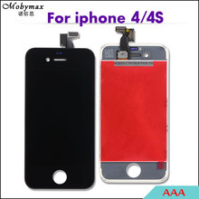 Mobymax Exran Module LCD AAA For iPhone 4/4s Screen Assembly Touch Digitizer LCD Display for iphone4 Frame Pantalla Replacement