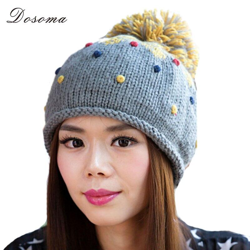2016 Autumn Winter Loving Warm Ball Cap Woolen Knitting Hat Korean Fashion Style Outerdoor Casual Ladies Beanies Women AccessoryÎäåæäà è àêñåññóàðû<br><br><br>Aliexpress