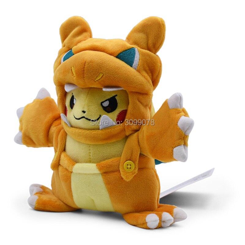 2pcs Pokemon Mega Charizard X Y Boneco De Pelúcia Boneco De Pelúcia Fogo Dragon brinquedo para presente