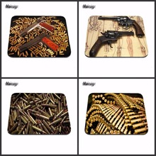 Customization Support  Best Game Machine Gun Bullets Fashion   Mousepads Rubber Pad Computer 18*22cm and 25*29cm  and 20*25cm