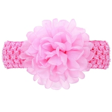 IMC Girls Chiffon Flower Headband Hair band (Pink)