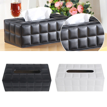 Napkin Paper Cover Rectangle Case Room Kitchen Car PU Leather Tissue Box Holder Home Car Napkins Holder Home Organizer Decor(China)