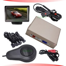 .video LCD  front parking sensor is with ccd high definition car camera workign with rear car camera