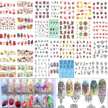 58Sheets Fruit/Necklace Jewelry Pattern Nail Stickers Nail Art Water Transfer Stickers Mixed Nail Tips Decals Decor BESTZ455-512(China)