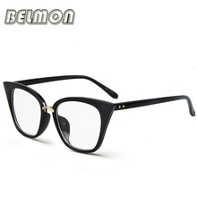 Eyeglasses Frame Women Computer Optical Vintage Eye Glasses For Women's Spectacle Transparent Clear Lens Armacao Oculos de RS266