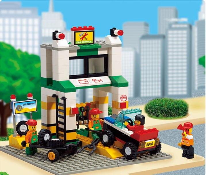 Sluban City Series Simulation City Car Repair Station Construction Plastic Model Building Block Bricks Set Compatible With legoe<br><br>Aliexpress