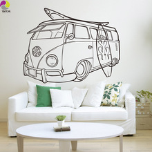 Volkswagen Surf Vans Wall Sticker Sofa Bedroom Baby Nursery Summer Car Sport Wall Decal Kids Room Vinyl Home Decor(China)