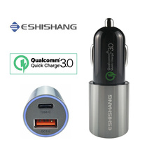 Car Charger Quick Charge QC3.0 Type-C USB Car Battery Charger Mobile Cell Phone Car-Charger For Xiaomi 6s HUAWEI Mate 9 P9 P10(China)