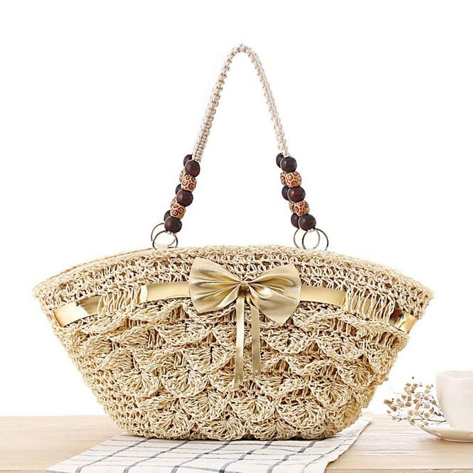 Boat-Shaped Travel Straw Beach Bags Summer Women Shoulder Causal Tote Lace Shopping Bag Designer Large Ladies Handbag L216<br><br>Aliexpress