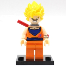 Single Sale superhero Dragon Ball Son Goku Collection building blocks model bricks toys for children brinquedos menino