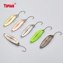 YAPADA Spoon 012 New Leech 2g/3g/5g BKK HOOK 33-38-45mm Multicolor 6piece/lot Metal Small Spoon Fishing Lures(China)