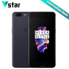 International Firmware Oneplus 5 8GB RAM 128GB ROM Snapdragon 835 Octa Core H2OS A5000 5.5Inch 3300mAh Three Camera OTA Update P(China)