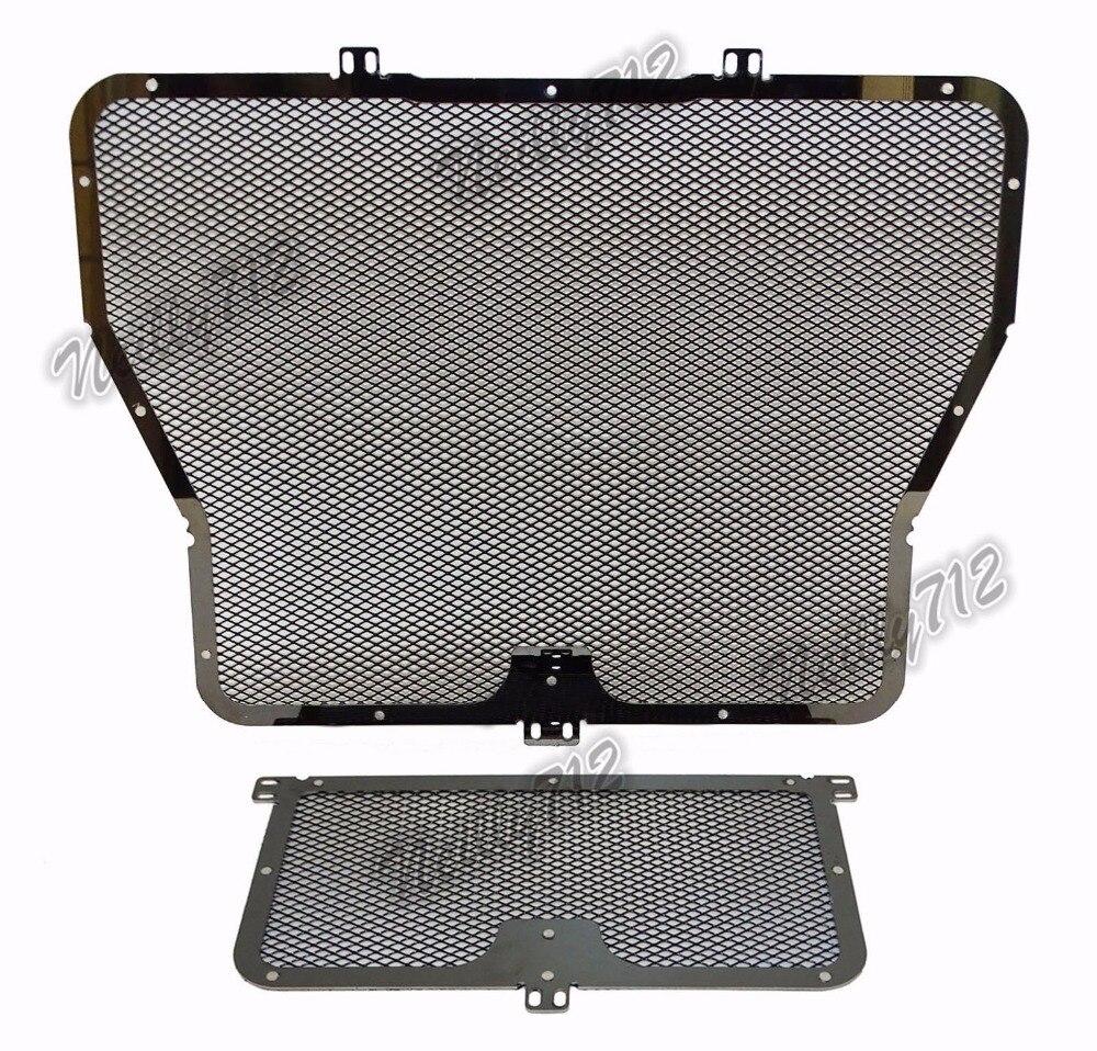waase Black Radiator Grille + Oil Cooler Guard Cover Protection For BMW S1000R S1000RR S1000XR S 1000R RR XR<br>